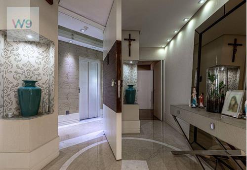 Apartamento Com 4 Dormitórios À Venda, 401 M² Por R$ 4.100.000,00 - Vila Suzana - São Paulo/sp - Ap0112