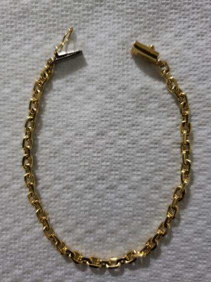 Pulseira Masculina Modelo Cartier Maciça Ouro 18 K