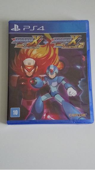 Megaman X Legacy Collection 1+2 - Ps4 = Novo E Lacrado
