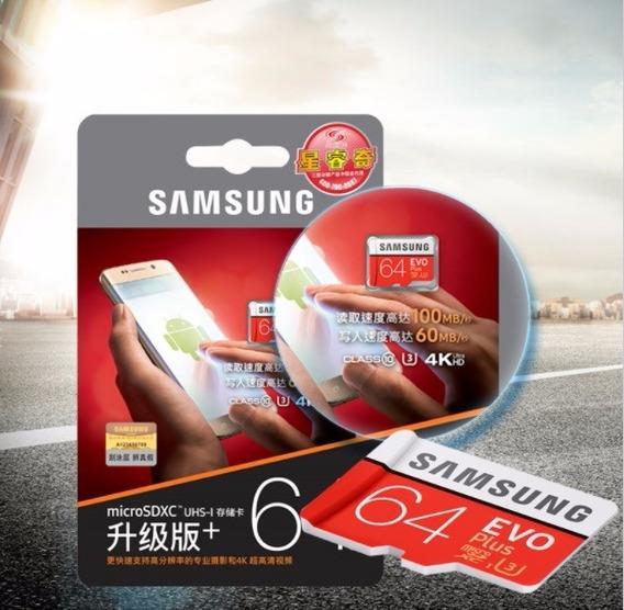 Cartão Lacrado Samsung 64gb U3 Filma 4k 100mbs Original