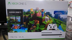 Xbox One S Branco 1tb Bundle Minecraft Microsoft Lacrado