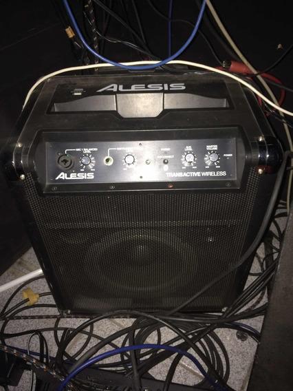Alesis Transactive Wireless Caixa Amplificada Com Bateria
