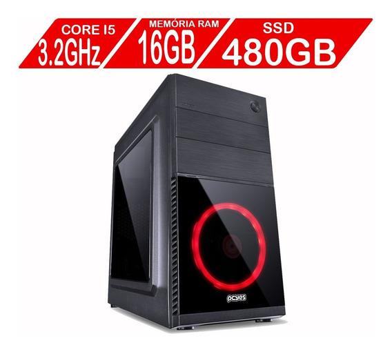 Computador Desktop Core I5 16gb Ssd 480gb Hdmi Usb 3.0