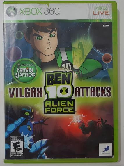 Ben 10 Alien Force Vilgax Attacks Xbox 360 Mídia Física