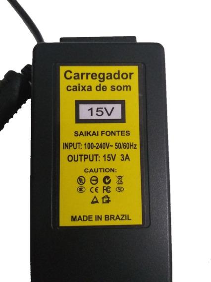 Fonte 15v..... 3a Bivolt Conector 5.5x2.5mm