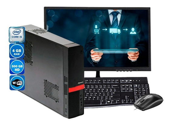 Computador Completo Slim I5 4gb Hd 500gb - 110v - Wi-fi