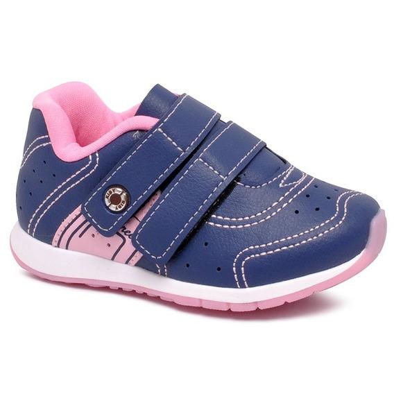 Tênis Infantil Kidy 096-1144 Azul/rosa