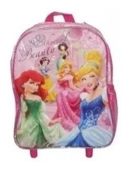 Mochila Princesas Disney Jardín De Espalda Original Última!!