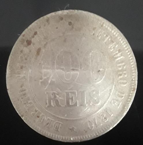 Imagem 1 de 3 de Moeda 100 Réis Ano 1881 Brasil