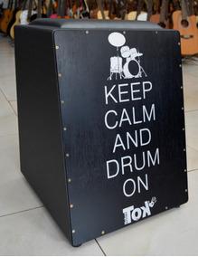 Nobre Tok Cajon C/bongo Elétrico Keep Calm