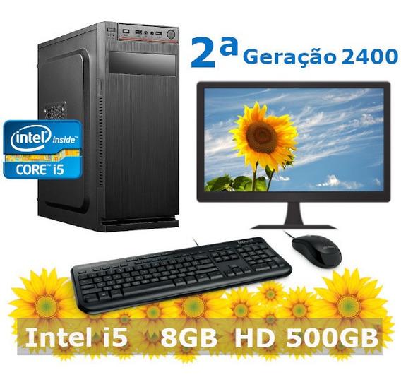 Desktop I5 2400 8gb Hd 500gb + Kit + Monitor 19 2ª Geração