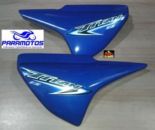 Tampa Lateral Para Moto Honda Titan 150 Es Azul Ano 2007