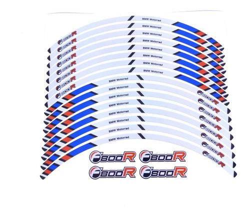 Kit Adesivos Friso Refletivo Roda Moto Bmw F800r Fri014