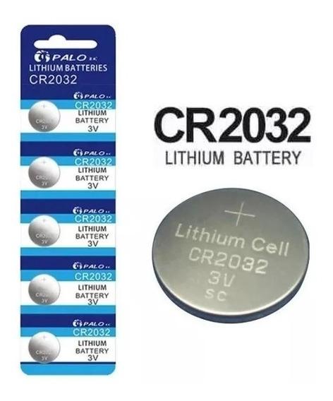 Pilas Para Reloj Bateria Cr2032 3 Voltios Blister De 5 Unid.