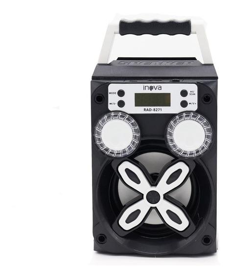 Caixinha Som Amplificada Bluetooth Mp3 Usb Sd Rádio Fm 8w