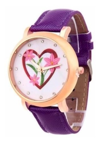 Relógio De Pulso Flores Social De Luxo Feminino R563