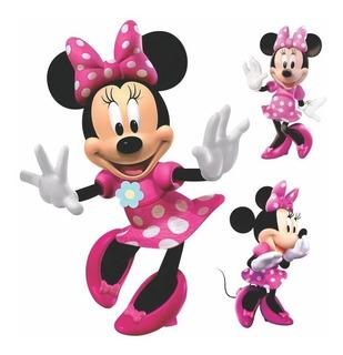 20 Adesivos Parede Decorativos Minnie Rosa