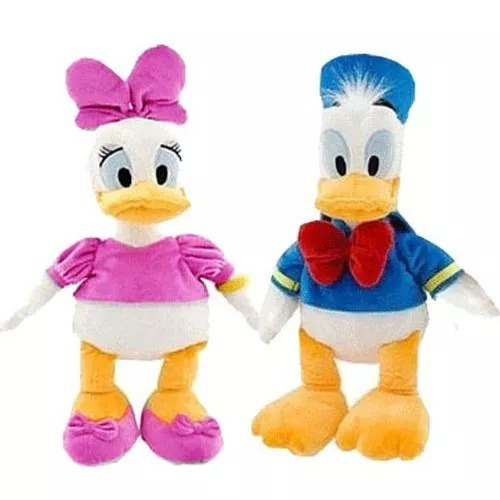 Kit 3 Boneco Pelúcia Mickey, Pato Donald E Margarida