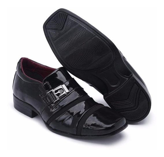 Sapato Infantil Social Elegante Preto Verniz