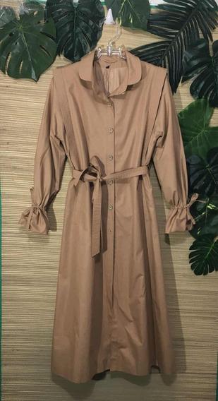 Trench Coat Década De 70 - Feminino -usado-impermeável