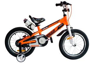 Bicicleta Royal Baby Space Aluminio Niño Rodado 16 Hs