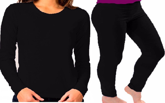Combo Termico Remera+calza Chupin T Alto Xxespecial 11x-13x