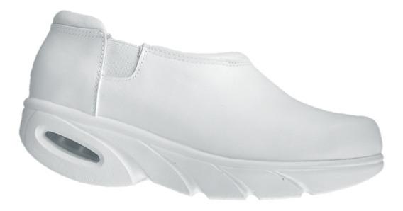 Zapato Blanco Piel Moderno Enfermera Chef Dr Hosue 6820masai