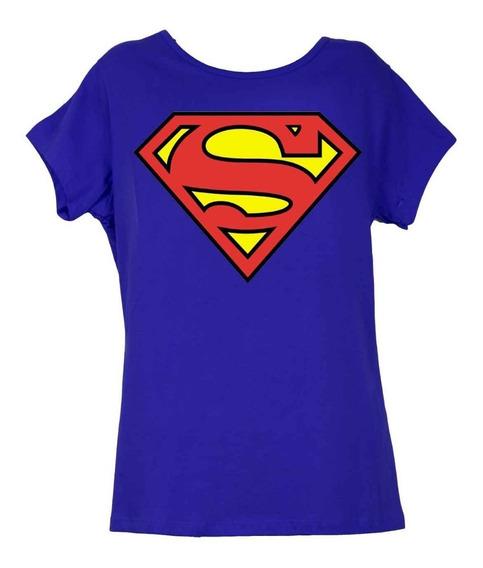 Remera, Dc, Superman Logo Clásico Dama Licencia Oficial