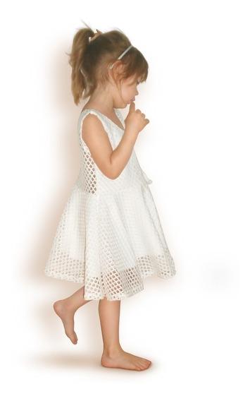 Vestidos Nena Fiesta Blisant Blanco Comunión Bautismo