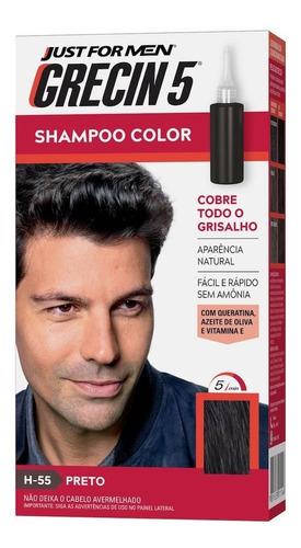 Grecin 5 Shampoo Tonalizante Preto H-55 60ml