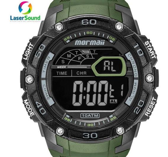 Relógio Mormaii Masculino Digital Negativo Original + Nf