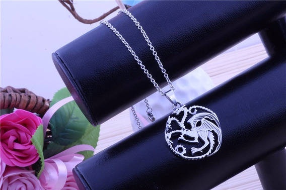 Collar Acero Inox Game Of Thrones Dragón Targaryen Valbar