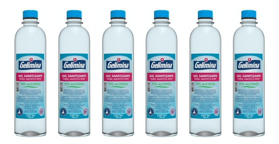 6 Botellas | Gel Antibacterial Para Manos 500 Ml Gelimina