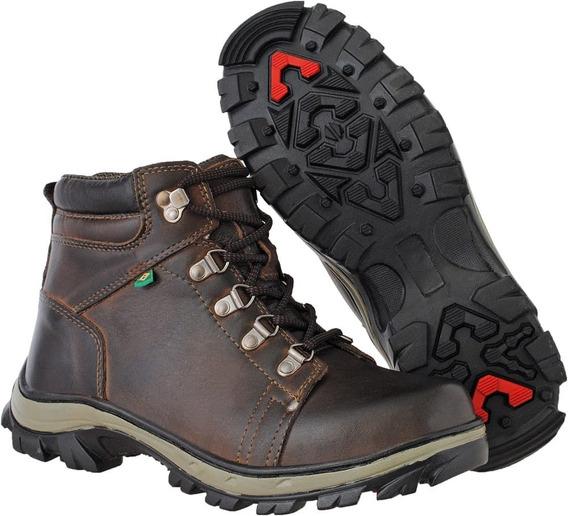 Bota Adventure Cano Alto Alpes Df Boots Caqui