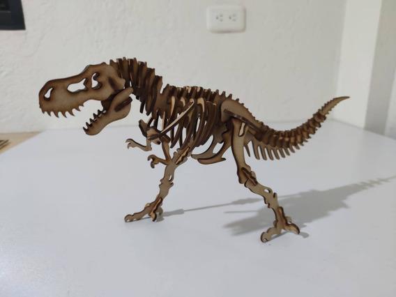 Dinosaurio Rex Decorativo En Madera