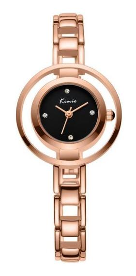 Kimio Kw6100s Moda Mulheres Relógio De Quartzo Simples Senho