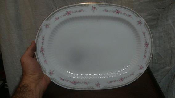 Antigua Fuente Porcelana Tsuji 37,2 X 27,2 X 2,5 Alto