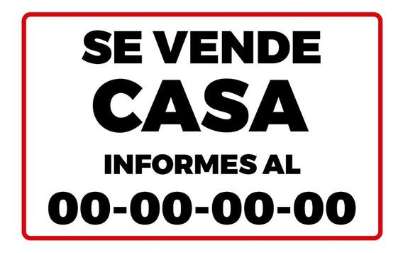 Lona Impresa Se Vende Casa 100x150 M.