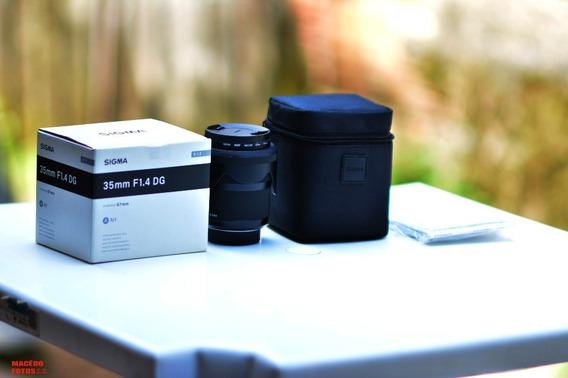 Lente Sigma Art 35mm 1.4 NikonDg Usada Por Hobby Apenas