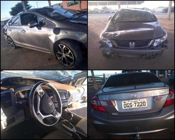 Sucata Honda Civic Exs 2.0 2012/13 Para Venda De Peças.