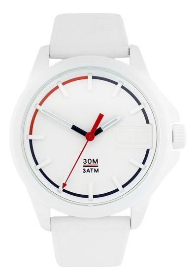 Relógio Tommy Hilfiger Masculino Borracha Branca Novo