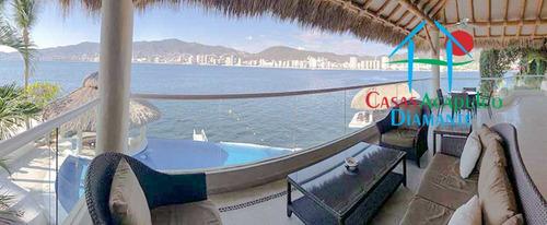 Imagen 1 de 14 de Cad Las Gaviotas 14. Terraza Con Alberca Y Vista A La Bahía