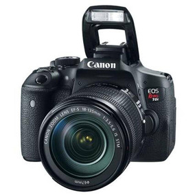 Câmera Eos Rebel T6i 18-135stm Canon Microsd 16gb Bolsa