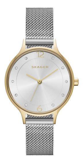 Reloj Dama Skagen Anita Skw2340 Color Plata De Acero