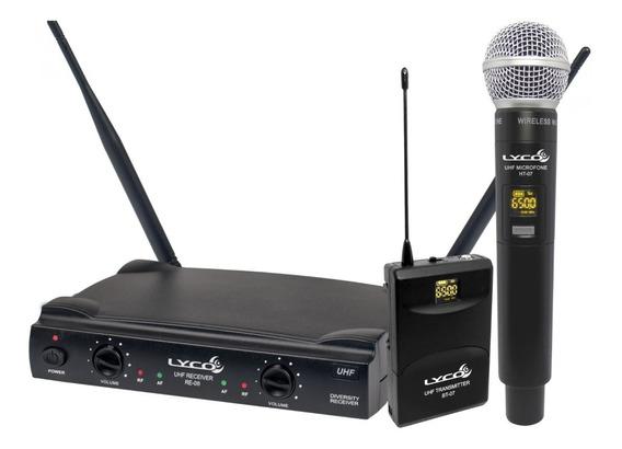 Microfone Sem Fio Headset Lapela Bastão Uh08 Mhli Lyco