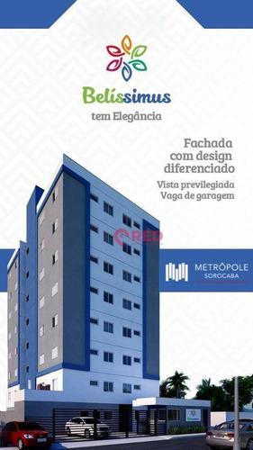 Imagem 1 de 15 de Apartamento Com 2 Dormitórios À Venda Por R$ 189.990,00 - Edifício Belíssimus - Sorocaba/sp - Ap0302
