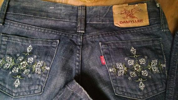 Calça Jeans Damyller Bolso Bordado Tamanho 38