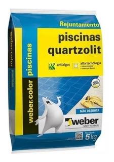 Rejunte P/ Piscina Azul Cobalto 5kg Quartzolit Pastilha/cera
