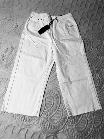 Pantalón De Mezclilla Color Hueso