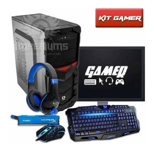 Pc Completo Gamer Quad Core + Kit Gamer Frete Gratis!